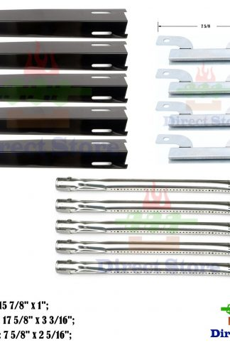 Direct store Parts Kit DG138 Replacement Brinkmann Heavy-Duty 810-8501-S Gas Grill Burners,Crossover Tubes, Heat Plates
