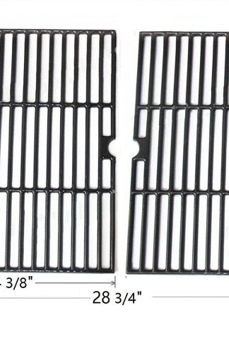 Edgemaster Pack of 2 Matte Cast Iron Cooking Grid Replacement for Select Gas Grill Models by Ducane Affinity, Grill Chef and Others