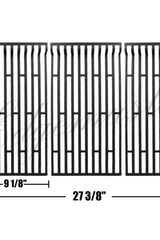 Edgemaster Set of 3 Cast Iron Cooking Grid, Cooking Grates Replacement for Fiesta Gas Grill Models Blue Ember FG50069LP, FG50069LP, FG50069NG, Fiesta FGQ65079-103, G500069-103