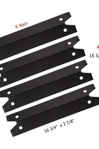 FAS INDUSTRY PPG311 BBQ Gas Grill Heat Plate/Heat Shield Replacement 4-pack, Porcelain Steel Outdoor Cooking Replacement Parts Heat Tent, Burner Cover for Brinkmann, Charmglow Models Grills