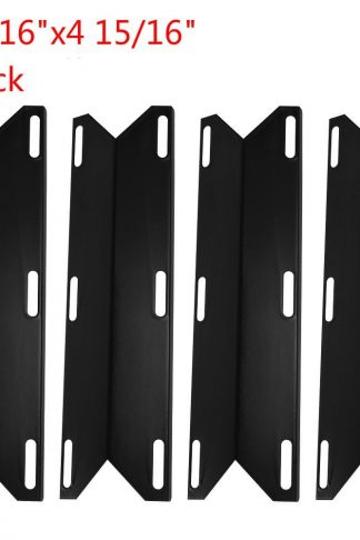 GASPRO GP-P041 Porcelain Steel Heat Plate Replacement for Charm-glow, Kirkland, Permasteel, Perfect Flame, Nexgrill ,Members Mark, Sams Model Grills(17 5/16 x 4 15/16 inch) (4 Pack)