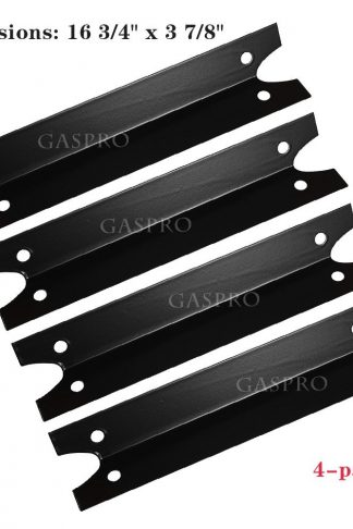 GASPRO PGP311 Gas Grill Heat Plate Tent Shield Replacement for Brinkmann, Charmglow and Othes, Porcelain Steel BBQ Flame Tamer Burner Cover Heat Deflector Diffuser(4-Pack, 16 3/4 X 3 7/8 inch)