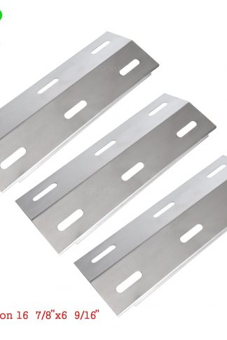 GASSAF 3-pack Stainless Steel Heat Plate 16 7/8 Inch Grill Heat Shield Burner Cover Replacement for Ducane Gas Grill Models 30400040 30400045 30400046 3200 3400 4200 S3200 S5200