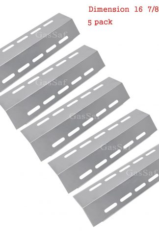 "GASSAF 5-Pack Stainless Steel Heat Plate Shield Replacement for Select Ducane 5 Burner Gas Grill Models, Grill Replacement Parts(16 7/8"" x 5 1/8"")"