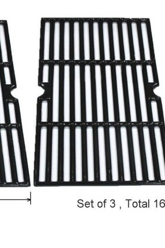 GI8763 Porcelain coated Cast Iron Cooking Grid Replacement for Select Gas Grill Models By Charbroil, Kenmore, Master Chef and Others, Set of 3