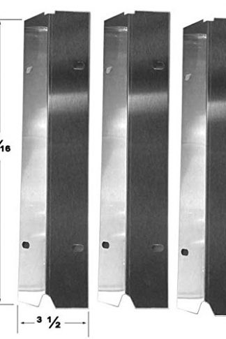 Grill Parts Zone Master Cook SRGG30001B, SRGG31401, Tera Gear 314168 & Outdoor Gourmet SRGG30001C, (3-PK) Stainless Heat Plate