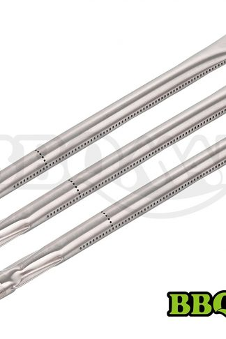 "Hisencn BBQMANN BA361 (3-pack) Universal Stainless Steel Replacement Straight Burner for Charmglow, Nexgrill, Costco Kirkland, Perfect Glo,Permasteel, Sterling Forge (16 13/16""x1"")"
