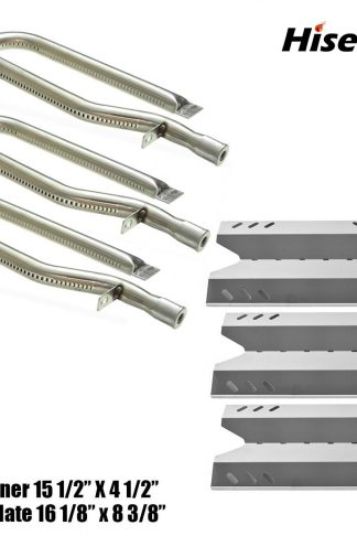 Hisencn Gas Grill Repair Kit SS Burner, Stainless Steel Heat Plate Parts -3pack Replacement For Members Mark BQ05046-6, BBQ Pro, Sam's Club, Outdoor Gourmet