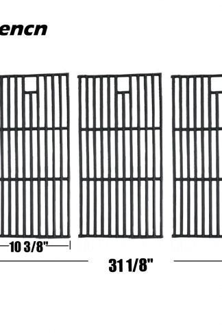 Hisencn Replacement Porcelain coated Cast Iron Cooking Grid Set of 3 for Select Gas Grill Models By Brinkmann, Charmglow, Costco Kirkland, For Jenn Air, Members Mark, Nexgrill, Perfect Flame And Other
