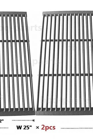 Hongso PCF662 Porcelain Cast Iron Cooking Grate Replacement for Brinkmann, Charbroil, Charmglow and Other Grills, Set of 2