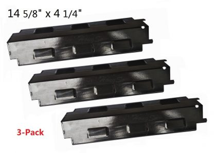 Hongso PPH531 (3-pack) Porcelain Steel Heat Plate, Heat Shield, Heat Tent, Burner Cover, Vaporizor Bar, and Flavorizer Bar Replacement for Select Gas Grill Models by Charbroil, Grill King and Others