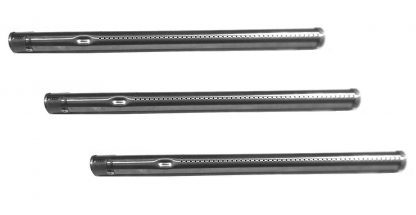 "Hongso SBE691 (3-pack) Stainless Steel Burner Replacement for Select Fiesta Gas Grill Models (15.75"" x 1"")"