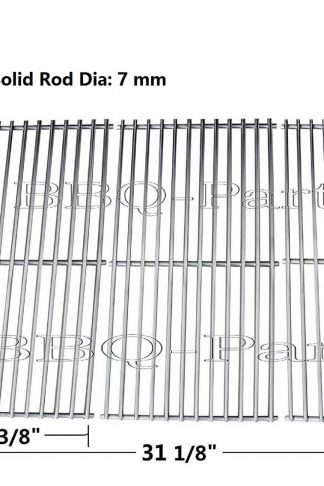 Hongso SCI1S3 BBQ Stainless Steel Wire Cooking Grid Replacement for Select Gas Grill Models by Brinkmann, Charmglow, Costco, Jenn Air, Members, Nexgrill, Perfect Flame, Sams Club and Others, Set of 3