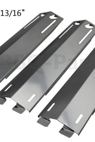 Hongso SPC271 (3-pack) Stainless Steel Heat Plates, Heat Shield, Heat Tent, Burner Cover, Vaporizor Bar, and Flavorizer Bar Replacement for Select Gas Grill Models by Grand Cafe, Grill Chef and Others (16 3/8