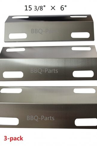 "Hongso SPI351 (3-pack) Stainless Steel Heat Plate, Heat Shield, Heat Tent, Burner Cover, Vaporizor Bar, and Flavorizer Bar Replacement for Select Ducane Gas Grill Models (15 3/8"" x 6"")"