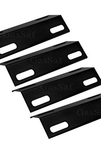 "JX351 (4-pack) Porcelain Steel Heat Plate Shield BBQ Gas Grill Heat Burner Cover Replacement for Select Ducane Gas Grill Models by GASSAF (15 3/8"" x 6"")"