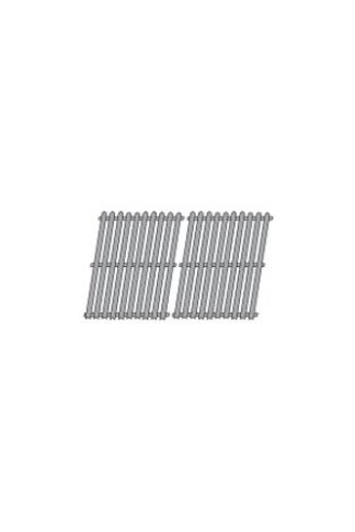 Music City Metals 52612 Porcelain Steel Channel Cooking Grid Replacement for Gas Grill Model Bond GSF2616AC, Set of 2