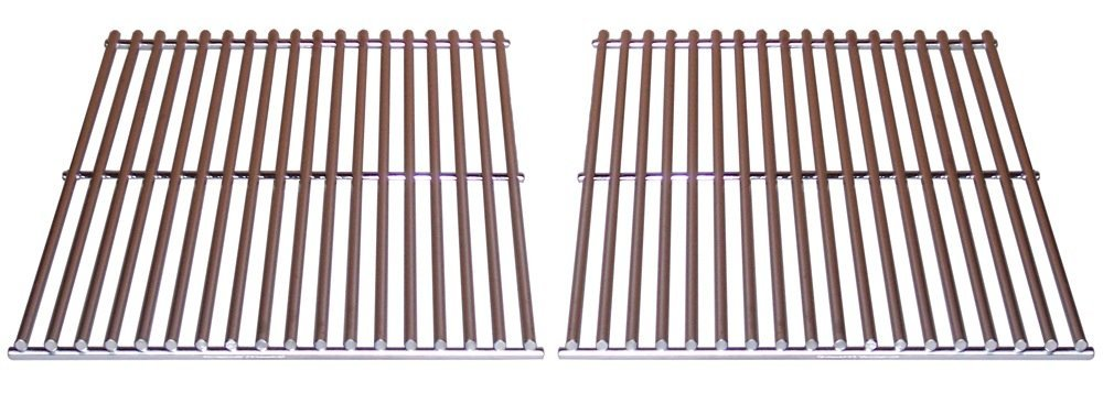 Music City Metals 5S612 Stainless Steel Wire Cooking Grid Replacement for Select Brinkmann and Turbo Gas Grill Models, Set of 2