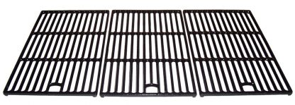 Music City Metals 60273 Matte Cast Iron Cooking Grid Replacement for Select Master Forge and Perfect Flame Gas Grill Models, Set of 3