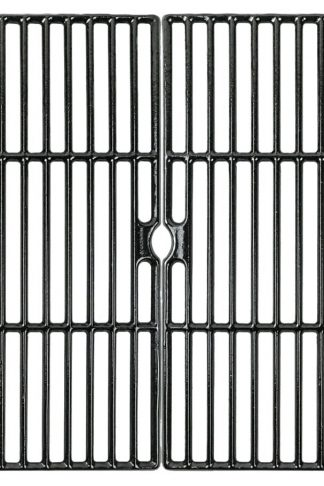 Music City Metals 66162 Gloss Cast Iron Cooking Grid Replacement for Select Grill Chef and Grill Master Gas Grill Models, Set of 2