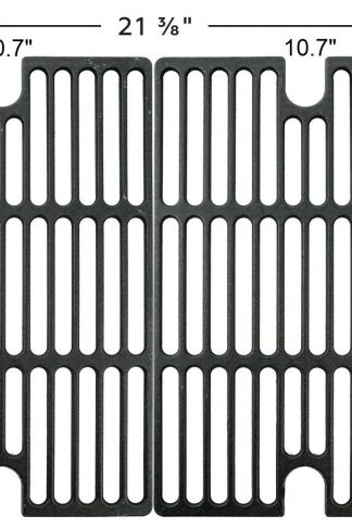 Music City Metals 67002 Matte Cast Iron Cooking Grid Replacement for Gas Grill Model Smoke Hollow 7000CGS, Set of 2