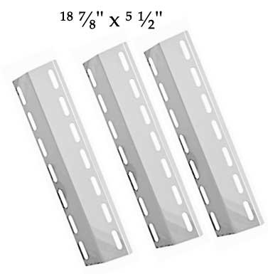 Nexgrill 720-0133, 720-0133-LP, NGKIRHP2, NEX3544, Fiesta EHL1130-K410 (3-PACK) Stainless Steel Heat Shield