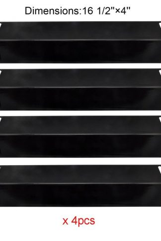 PH2151 (4-pack) Porcelain Steel Heat Plate, Heat Shield Replacement for Select Gas Grill Models By BBQ Grillware, Grill Chef, Uniflame and Others