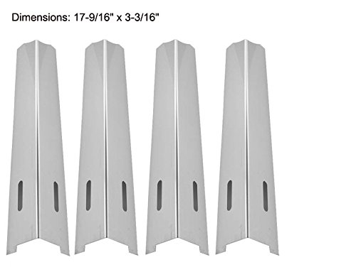 Perfect Flame 225203, 25586, GSC3318, GSC3318N & Brinkmann 810-8501-S, 810-8502-S (4-PACK) Stainless Steel Heat Shield