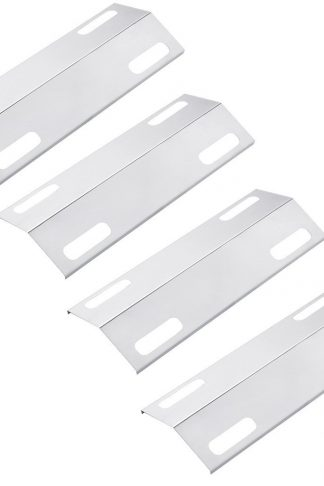 Pitmasters Supply Porcelain Steel Heat Plate Replacement, Heat Shield, Heat Tent Diffuser Deflector for 99351 Ducane Gas Grill Models (4-pack)