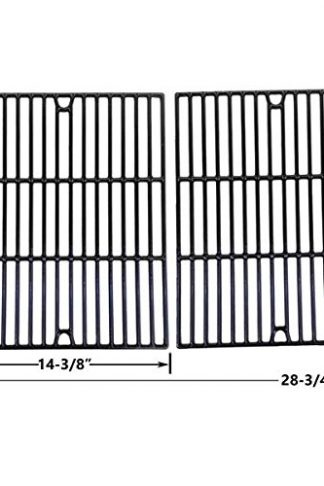 Porcelain Cast Iron Cooking Grid for Grill Chef Models GC7550, Ducane 3100, Affinity 4100, 4100, Affinity 4200, Affinity 4400 and Uniflame GBC850W Gas Grill Models, Set of 2