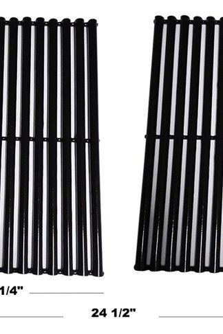 Relishfire Porcelain Steel Gas Grill Cooking Grid/Cooking Grates, Replacement for Centro, Charbroil, Front Avenue, Fiesta, Kenmore, Kirkland, Kmart, Master Chef, and Thermos, Set of 2