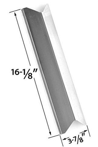 Replacement Stainless Steel Heat Shield for Kenmore 119.16433010, Master Forge B10LG25, Perfect Flame SLG2007A, 61701 and BBQTEK GSF2818K, GSF2818KH, GSF2818KS Gas Grill Models