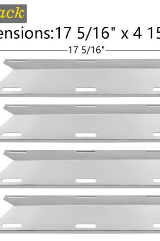 SHINESTAR Grill Replacement Parts for Charmglow 720-0304, Perfect Flame 720-0522, Members Mark, Nexgrill and More, 4-Pack 17 5/16 inch Stainless Steel Heat Shield Plate Tent BBQ Burner Cover(SS-HP032)