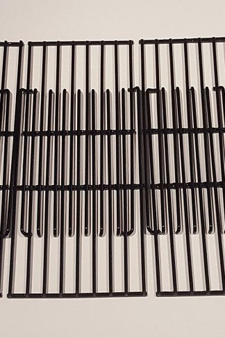 Set of Four Porcelain Coated Cooking Grids for Bbq grill models from Charbroil, Kenmore, Brinkmann, Uniflame and other manufacturers