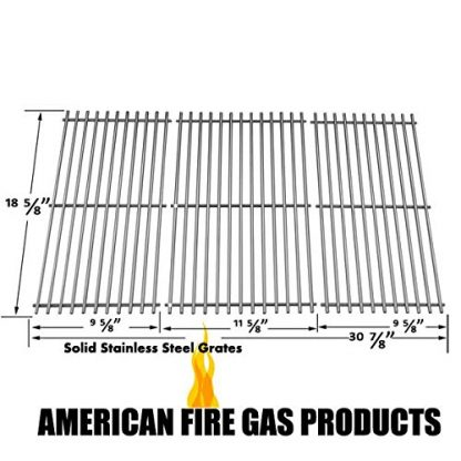 Stainless Steel Cooking Grid Replacement for Academy Sports, Outdoor Gourmet BQ05037-2, Kenmore 119.16658010, Master Forge B10LG25 and Masterbuilt 10041006 Gas Grill Models, Set of 3