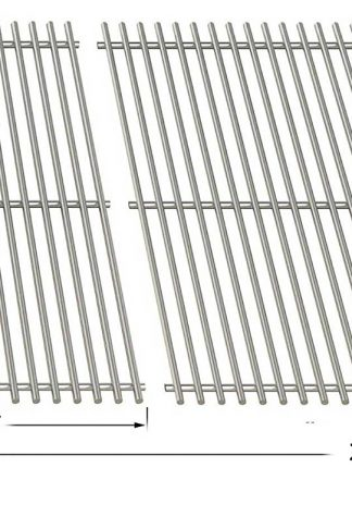 Stainless Steel Cooking Grid for Charbroil 1000, Cooking Zone, Cooking Zone 10002, PGS K40 & Phoenix PG2001-P, PG2001-PBS, SPG2001-P Gas Grill Models, Set of 2