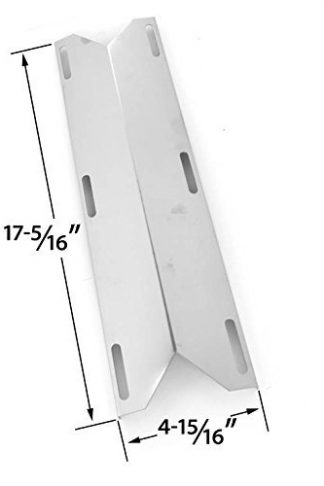 Stainless Steel Heat Plate Replacement for Charmglow 720-0396, Kirkland 720-0433, 720-0432, Sams 720-0582, Member's Mark 720-0584A and Perfect Flame 720-0522CAN Gas Grill Models