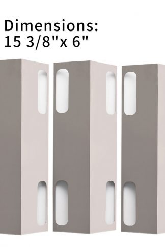 "XHome 15 3/8 Heat Plate for Gas Grill, Heat Shield Replacement for Ducane 3073101 and Affinity 3073101 and Other Models, KL-H38(15 3/8"" x 6"", 3 Pack)"