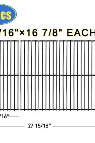 "XHome Grill Grate 16 7/8"" Grill Replacement Parts 16 inch for Charbroil 463420507, 466420911, Kenmore, Master Chef, Backyard and Others, Porcelain Steel(3 Pack, 16 7/8"" x 9 5/16"")"
