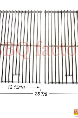 bbq factory JCX3S2 BBQ Stainless Steel Wire Cooking Grid Replacement for Select Gas Grill Models by Jenn-Air, Nexgrill and Others, Set of 2
