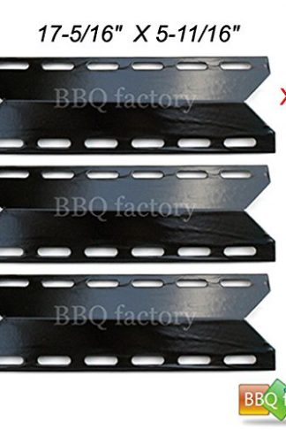bbq factory® JPX341 (3-pack) BBQ Gas Grill Porcelain Steel Heat Plate / Shield for Charmglow, Nexgrill, Perfect Flame, Perfect Glo Model grills