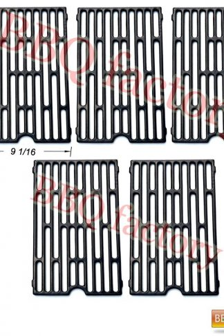 bbq factory® Replacement Cast Iron Cooking Grid Porcelain coated (5-pack) for Select Gas Grill Models By Chargriller,Jenn-air, Vermont Castings Gas Grill and Others