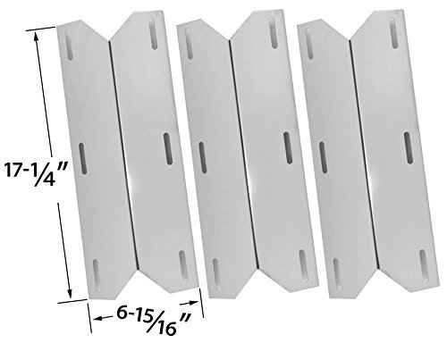 3 PACK Heat Shield for Charmglow, Costco Kirkland 720-0432, Nexgrill, Sterling Forge 720-0016, Chateau 720-0058, Courtyard 720-0016 and The Classic 720-0083-04R Model Grills