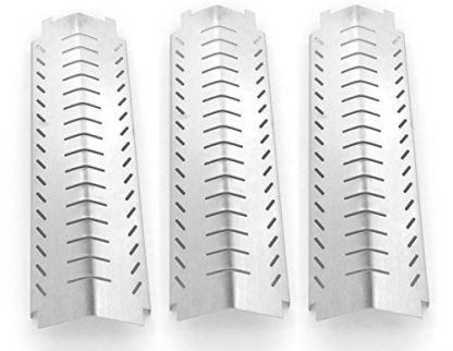 3 PACK Stainless Steel Heat Plate Replacement for Kirkland 463230703, FRONT AVENUE and Charbroil Terrace Series, Designer Series, 463240804, 463241804, 463230603 Gas Grill Models