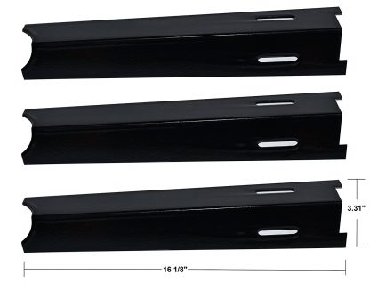 3 pack - Porcelain Steel Heat Plate Replacement for Select Gas Grill Models by BBQ Grillware, Jenn-Air and Others