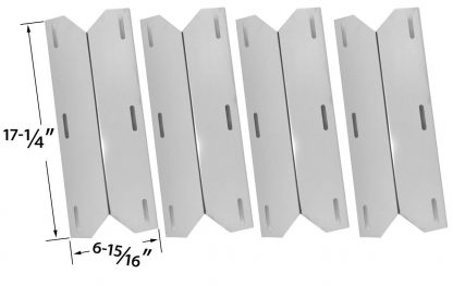 4 PACK Replacement Heat Shield for Charmglow, Costco Kirkland 720-0432, Nexgrill, Sterling Forge 720-0016, Chateau 720-0058, Courtyard 720-0016 and The Classic 720-0083-04R Model Grills