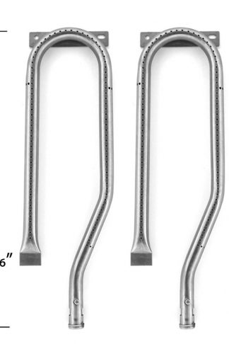 4 Pack Grill Burner for Nexgrill 720-0336, 720-0337, 730-0337, 730-0339, Duro 720-0584A, Member's Mark 720-0586A & Jenn-air 720-0337, 720-0339, 720-0511, 720-0512, 730-0336, Gas Models