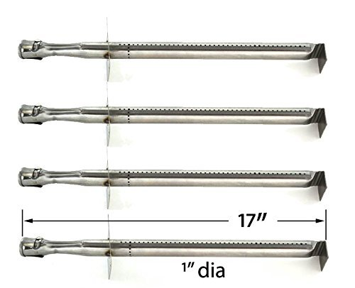 4 Pack Replacement Stainless Steel Burner for Vermont Castings cf9085, cf9085 3a, cf9085 3b, cf9055 3b, cf9056, Sizzler, Great Outdoors & Jenn Air Model Grills