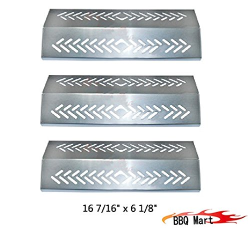 94641(3-pack) Stainless Steel Heat Plate Replacement for Select Gas Grill Models By Broil-mate, Grillpro, Sterling and Others