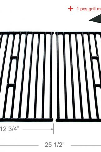 BBQ funland GP4362 Porcelain Coated Cast Iron Cooking Grid Replacement for Select Gas Grill Models by Broil King, Broil-Mate and Others, Set of 2